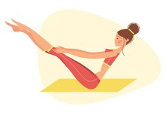 Yoga illustrations by Irina Kerasoshvili, via Behance
