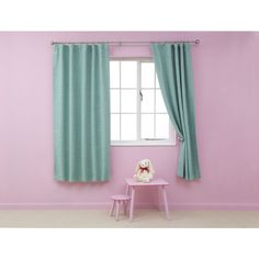 Kids Blackout Curtains 66in x 54in Turquoise