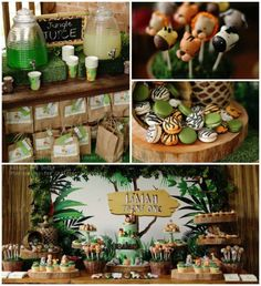 See more ideas about safari birthday party, jungle theme baby shower and ju Safari Theme Birthday, Jungle Theme Parties, Jungle Party, Safari Party, Birthday Party Themes, Birthday Gifts, Madagascar Party, Disney Cars Party, Fiestas Party