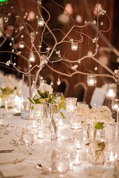 crystals & branches for winter weddings