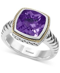 BALISSIMA  by EFFY Amethyst Ring (4 ct. t.w.) in 18k Gold and Sterling Silver | macys.com