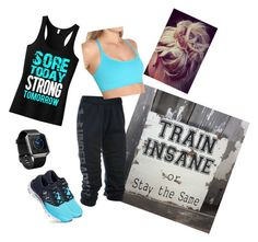 """Sore Today...."" by rhays0514 on Polyvore featuring Under Armour and Fitbit"