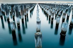 Senbon Mokuzai: Princes Pier in Port Melbourne Landscape Photography, Nature Photography, Long Exposure Photos, Earth Song, Light Of The World, Amazing Pics, Patterns In Nature, Pretty Cool, Photo Contest