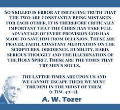 Aiden Wilson Tozer was an American Christian pastor, preacher… Biblical Quotes, Faith Quotes, Spiritual Quotes, Bible Quotes, Bible Verses, Scriptures, Aw Tozer Quotes, 5 Solas, Christian Apologetics