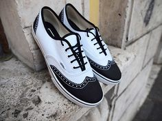 """Van's Era Lo Pro """"Wingtip."""" Just saw these in Schnee's in Bozeman. Oh, man oh manohmanohman! New dancing shoes? :D"""