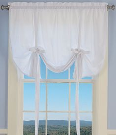 Savannah Seersucker Tie Up Curtain Countrycurtains 63 Long X 48 Wide