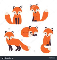 stock-photo-set-of-cute-cartoon-foxes-in-modern-simple-flat-style-isolated-illustration-356767469.jpg (1500×1600)
