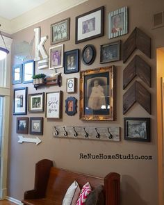 You& collected all the pieces you want to include in your own DIY Gallery Wall, but now you& completely overwhelmed and don& know where to start. Wall Design, Layout Design, Design Ideas, Bed Legs, Wood Brackets, Porch Decorating, Decorating Ideas, Decor Ideas, Craft Ideas