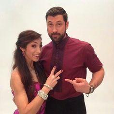 Maksim Chmerkovskiy and Meryl Davis sizzle in snap taken at show premiere