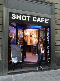 Shot Cafe Florence. Not only do they have delish drinks, but the accept AMERICAN DOLLARS!