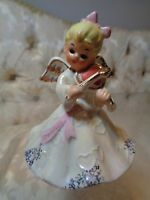 Vintage Norcrest 'February' Valentine Birthday Angel w/Heart Violin F-15