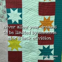 They are your dreams. No one else owns them but you! Vintage quilt found in…