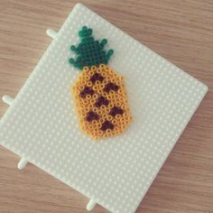 Pineapple hama mini beads by feeltherise