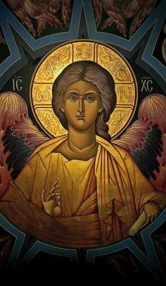 Holy Hesychia Religious Icons, Religious Art, God Jesus, Jesus Christ, Male Angels, Byzantine Icons, Orthodox Christianity, Orthodox Icons, Mother Mary