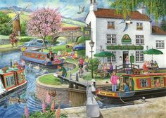 A huge range of jigsaws, jigsaw puzzles, mind puzzles and accessories for all ages that you can buy online. Puzzle Maker, Puzzle Art, Best Jigsaw, Cartoon House, Cartoon Art Styles, Country Art, Naive Art, The Good Old Days, 1000 Piece Jigsaw Puzzles