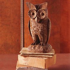 Woody the Owl - hand-carved from acacia wood