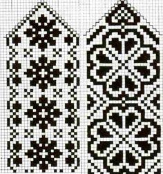 Crochet Mittens Free Pattern, Knitting Paterns, Crochet Gloves, Knit Mittens, Knitting Charts, Knitting Yarn, Free Knitting, Knitting Projects, Filet Crochet
