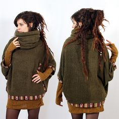 "Poncho Witch ""Natcha"", Vert                                                                                                                                                                                 More"