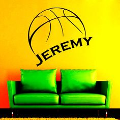 Wall Decals Sport Basketball Personalized Name by VinylDecals2U