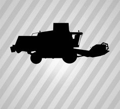 Combine Harvester Silhouette Tractor - Svg Dxf Eps Silhouette Rld RDWorks Pdf Png AI Files Digital Cut Vector File Svg File Cricut Laser Cut