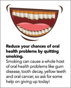 Another healthy mouth tip and particularly relevant during #stoptober