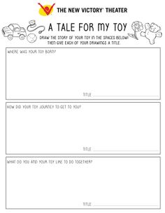 Guide your kids through telling the tales of their toys with this at-home education idea and printable worksheet.