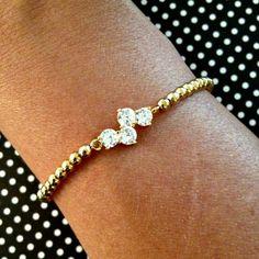 Delicate Gold & Sparkle Bracelet