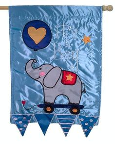 It's A Boy Double Applique House Flag