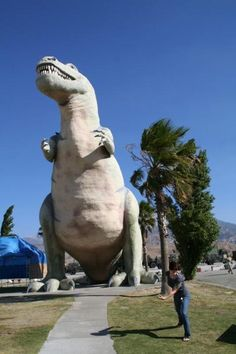 On the topic of roadside attractions, I'm sure some of you have been to the Cabazon Dinosaurs in California. You know, the ones in Pee-wee's Big Adventure?