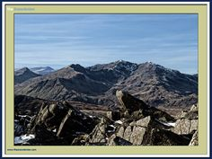 The Snowdon Horseshoe as seen from Moel Siabod