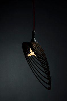 Kélifos shade designed by Maroun Jawiche for Plumen 001 light bulb. Middlesex University and Plumen collaboration. #PlumenMDX