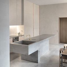 Best Simple Kitchen Designs Ideas for Small House Decoration Simple Kitchen Design, Best Kitchen Designs, Interior Design Kitchen, Interior Decorating, Concrete Kitchen, Kitchen Taps, Kitchen Grey, Kitchen Island, Concrete Counter