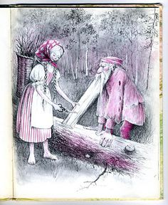 Barbara Cooney - Snow White and Rose Red by moonflygirl, via Flickr