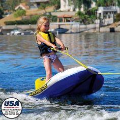 Air Head AHEZ-100 EZ SKI Inflatable Towable Water Ski Hybrid- Single Rider
