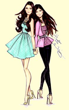 Hayden Williams Fashion Illustrations | Kendall & Kylie by Hayden Williams
