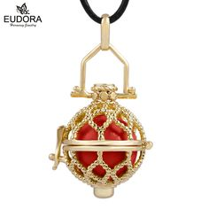 Mexico Bola Ball Harmony Locket Cage Charm Women Baby Chime Ball Angel Caller Bola DIY Floating Locket Gold Color Jewelry