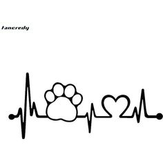 Are you a dog lover? This Cute Dog Paw Heartbeat Sticker is a MUST-HAVE! Designed with high quality material! We ship with a USPS tracking Number. Description: - Material: V Tattoos For Dog Lovers, Dog Tattoos, Dog Paw Drawing, Chien Golden Retriever, Cat Paws, Dog Quotes, Dog Art, In A Heartbeat, Painted Rocks