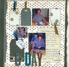 2012-10-18 B-Day  Layout for Scrapbook Challenges Sketch #330