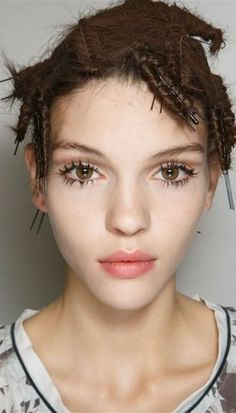 Backstage beauty look from the Emporio #Armani Spring Summer 2014 fashion show