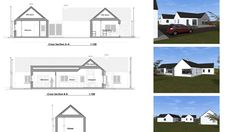 Traditional Large Style Bungalow providing our client with large living spaces, maximizing comfort and practicality. Bungalow Renovation, Farmhouse Renovation, Bungalow House Plans, Bungalow House Design, House Designs Ireland, Old School House, Living Spaces, Old Things, Floor Plans