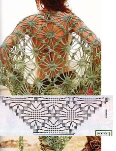 Patrones Crochet: 90 Chales y Mantillas con Patrones                                                                                                                                                     Más
