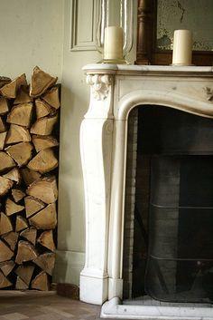 wood & fireplace | by wood & wool stool