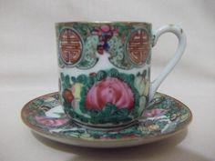 b. antigo - suntuosa xícara de café em porcelana chinesa