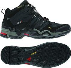 adidas Terrex Fast X Gore-Tex Mid Hiking Boot - Men's (8.5, Cinder/Black/Core Energy) - http://authenticboots.com/adidas-terrex-fast-x-gore-tex-mid-hiking-boot-mens-8-5-cinderblackcore-energy/