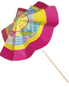 cute umbrellas for cocktail (lilly pulitzer)