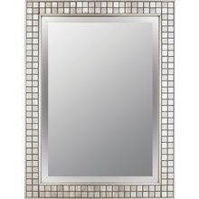 Quoizel Bathroom Mirrors quoizel vtcl43224bn vetreo clouds wall mirror, brushed nickel