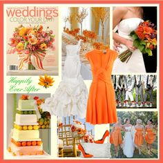 I saw this cover of Martha Stewart and fell in love with the bouquet so I created a design board on Polyvore incorporating orange into a colour theme for a summer wedding.