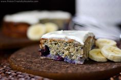 Protein Treats By Nicolette : Banana Blueberry Protein Cake