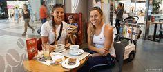 Monika Brzostek i Kinga Kołosińska and #coffeetime! #beachvolleyball #volleyball