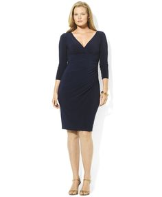 Lauren Ralph Lauren Plus Size Long-Sleeve Sheath Dress